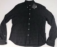 Eidos Napoli $315 Mens Cotton Flannel Long Sleeve Shirt Size 42 16.5