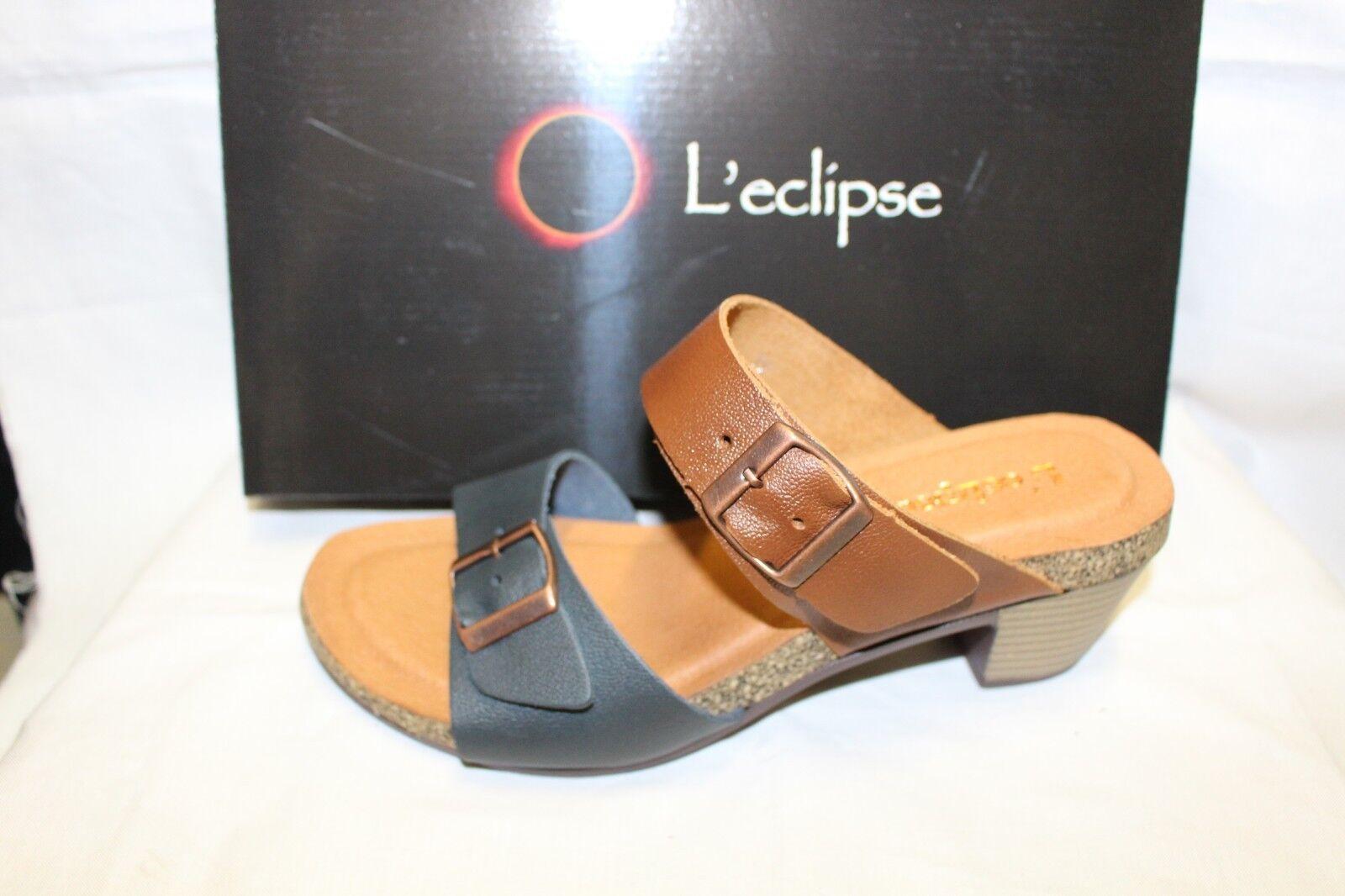 Damas Zapatos Calzado-l'eclipse desgaste desgaste desgaste Dodge Azul Marino Tan  respuestas rápidas