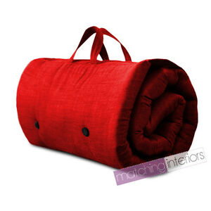 Image Is Loading Red Travel Guest Sleepover Single Mattress Roll Up