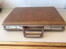 Vintage AIRWAY Brown Leather Briefcase Document Portfolio Bag
