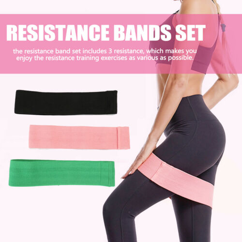 Fabric Resistance Band Yoga Fitness Exercise Loop Booty Hip Circle Legs Workout