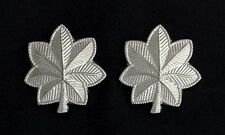 Lieutenant Colonel Oak Leaf Rank Insignia Metal Silver Finish - Small (Pair)