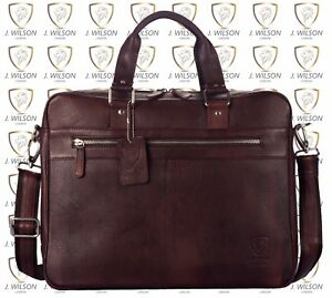 Image Is Loading Mens Leather Laptop Bag Designer Las Shoulder Cross