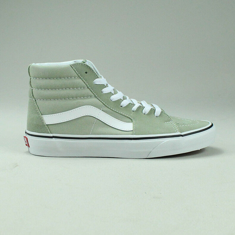 Vans Colour Theory Sk8 Hi Trainers shoes in Sage in UK Size 4,5,6,7