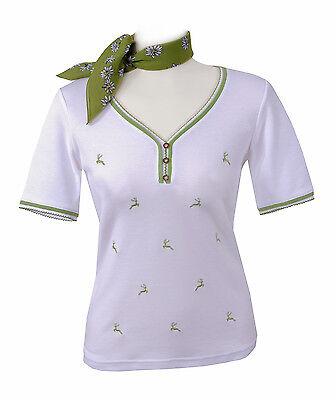 Initiative Trachtenshirt Trachten T-shirt Damen Premium Qualität Weiß Grün Produkte Werden Ohne EinschräNkungen Verkauft