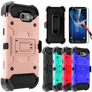For-Samsung-Galaxy-J3-Prime-Luna-Pro-Emerge-Case-With-Kickstand-Screen-Protector