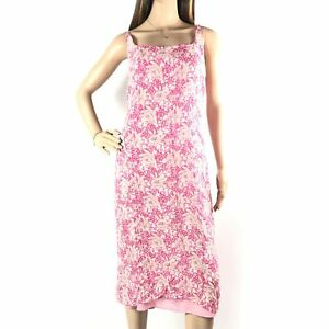 Jigsaw-Womens-Pink-Midi-Dress-Size-12-Floral-Floaty-Summer-Ladies-Strappy
