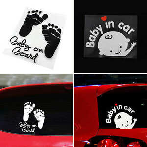 New-034-Baby-in-car-034-Baby-on-Board-Child-Window-Bumper-Car-Sign-Decal-Vinyl-Sticker