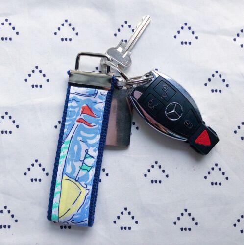 "Lilly Pulitzer Get Nauti Key Fob Wristlet 1.25/"" width, 9/"" length"