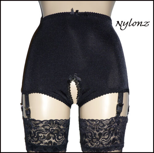 Made In UK NYLONZ Vintage Style Crotchless 6 Strap Smooth Girdle