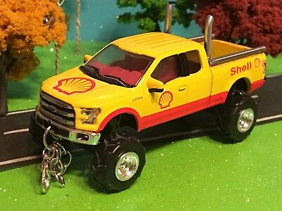 Ford F150 Shell Oil Company 1 64 Scale Custom Lifted Mufflers Chains Hooks Ebay