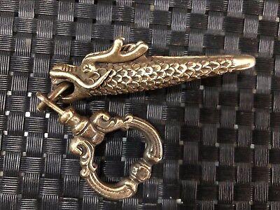 Collectable Japanese Samurai Sword Brass dustpan/&mouse Pendant