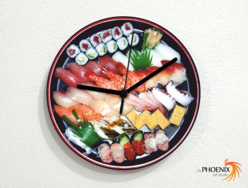Sushi Plate Japanese Food Makimono Sashimi Wall Clock