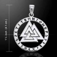 Mickie Mueller Valknut Sterling Silver Pendant By Peter Stone Fine Jewelry