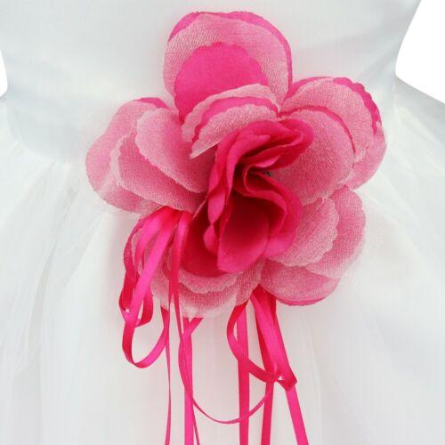 UK Newborn Baby Flower Girl Dress Kids Christening Wedding Party Formal Dresses