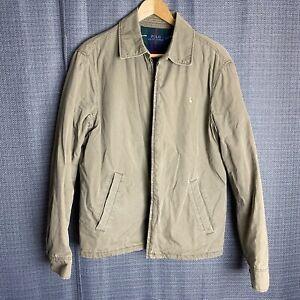 Polo-Ralph-Lauren-Mens-Size-S-Small-Beige-Harrington-Bomber-Jacket-Plaid-Lined