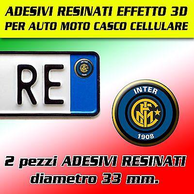 MOTO AUTO TARGA 2 pz ADESIVI RESINATO STICKER ITALIA ADESIVO EFFETTO 3D NUOVO!