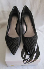 e6c570e9df6 item 3 NIB Nine West Onfireo Women s Black Gray Leather Pointy Toe Kitten  Heel Pump 7 M -NIB Nine West Onfireo Women s Black Gray Leather Pointy Toe  Kitten ...