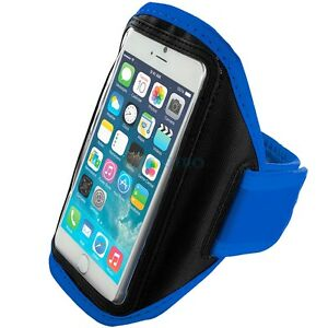 iPhone-6-4-7-034-Blue-Padded-Arm-Band-Mobile-Phone-Holder-for-Running-Jogging