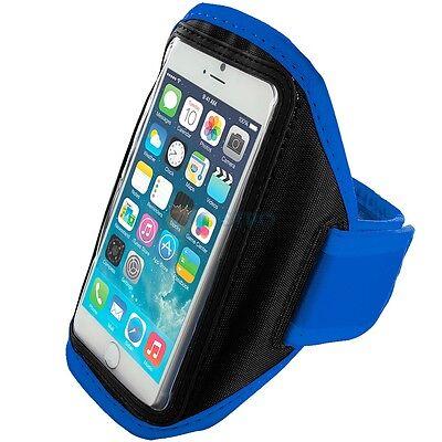 "Iphone 6 (4.7"") Blue Padded Arm Band Mobile Phone Holder For Running, Jogging Professionelles Design"