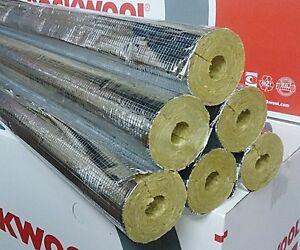 Rockwool RS800 22x30 Steinwolle Rohrisolierung Rohrschale Isolierung Karton 20m