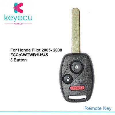2 For 2005 2006 2007 2008 Honda Pilot Keyless Entry Remote Car Key Fob