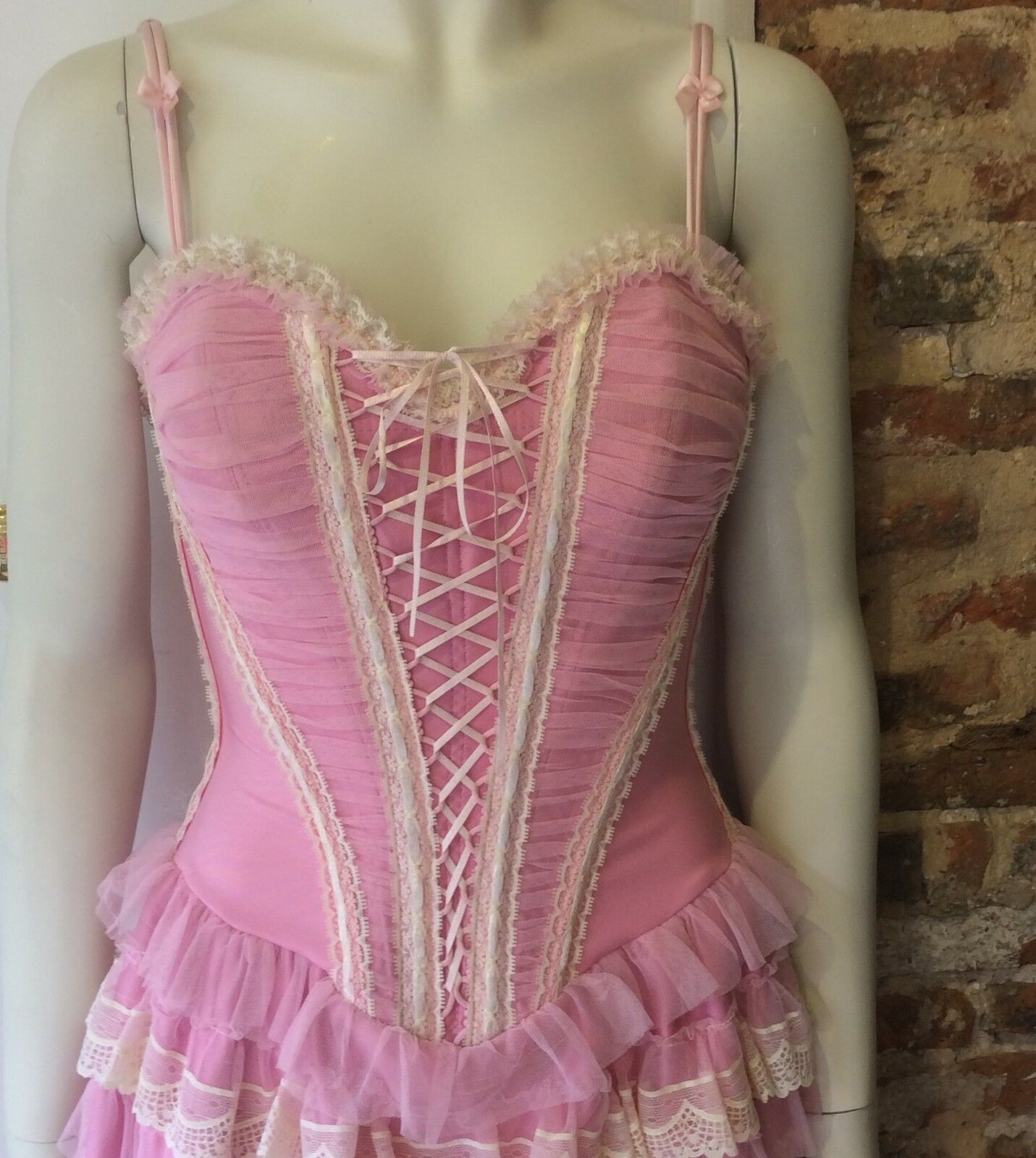 Catwalk Collection Vestito con Corsetto Corsetto Corsetto rosa BNWT 28c13a