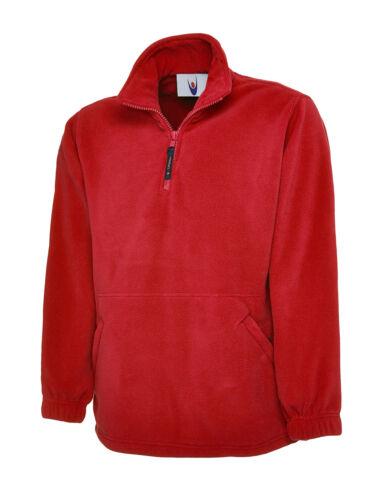 NUOVA linea uomo donna Premium Mezza Zip Micro Fleece Jacket 1//4 Super Anti pillola Top LOTTO