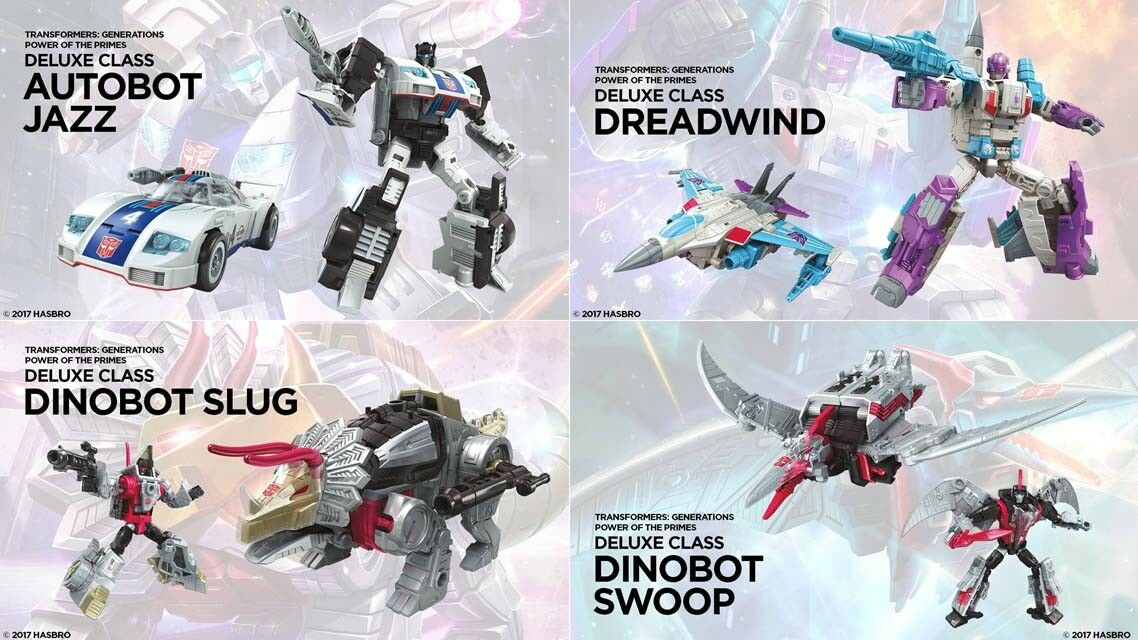 Transformers Power of the Primes Deluxe Set of 4 Jazz, Dreadwind, Slug, Swoop
