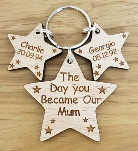 PERSONALISED-MOTHERS-DAY-GIFT-KEYRING-DAY-YOU-BECAME-MY-MUMMY-BIRTHDAY-MUM