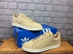 ADIDAS-ORIGINALS-MENS-UK-6-EU-6-1-2-STAN-SMITH-KHAKI-OFF-WHITE-SUEDE-TRAINERS
