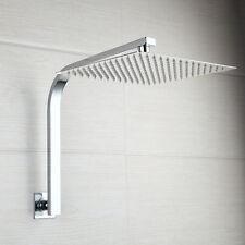 Wall Mounted Bathroom 8 Inches Rain Square Shower Head W/Gooseneck Shower Arm