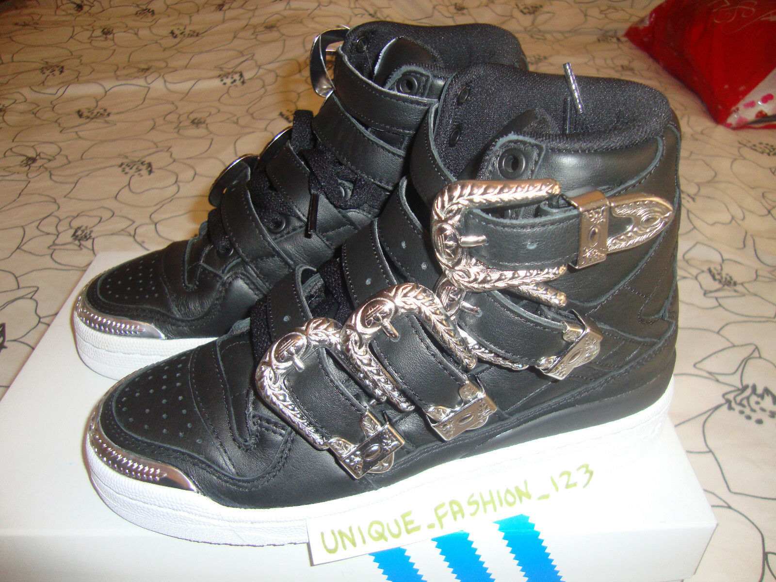 2018 Adidas OBYO JS Jeremy Scott Forum Hi Buckle US 4.5 /3 bones