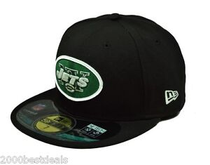 New-Era-59Fifty-Mens-Cap-NFL-New-York-Jets-On-Field-Black-Fitted-5950-Hat