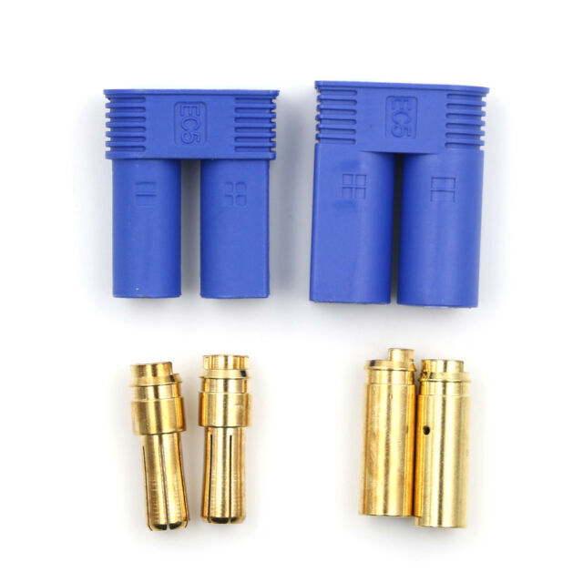1 Set Male Female RC EC5 Banana  Connector 5.0mm Gold Bullet Plug KQ