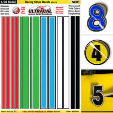 1/32 Slot Car Model Waterslide Decals IMPROVEMENT Racing Stripes #1 PRECUT