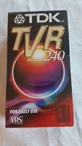TDK-TVR-240-VHS-Videokassetten-2-Stueck-Leerkassetten-NEU-4-Hours-Tape-tapes