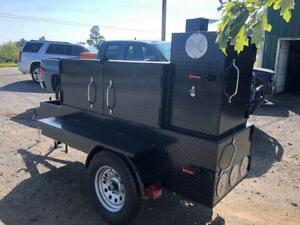 Barn-Door-Mobile-BBQ-Smoker-Grill-Trailer-Front-Storage-Food-Truck-Concession