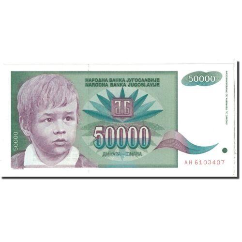 [#121408] Banknote, Yugoslavia, 50,000 Dinara, 1992, KM:117, UNC(65-70)