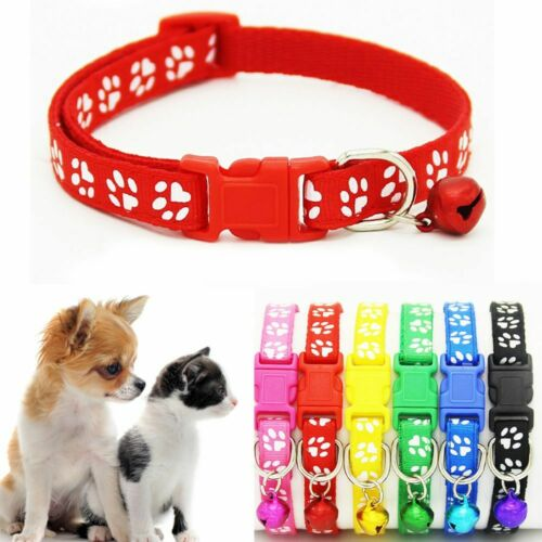 Fashion Cute Cat Pet Collar Small Footprint Nylon Fabric Dog Strap Buckle