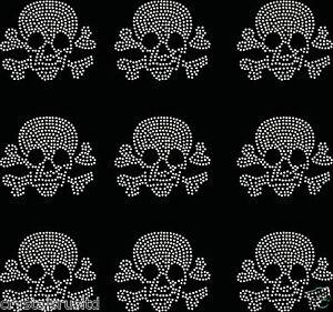 9x-Small-Filled-Skull-Iron-On-Rhinestone-Transfer-Crystal-t-shirt-applique