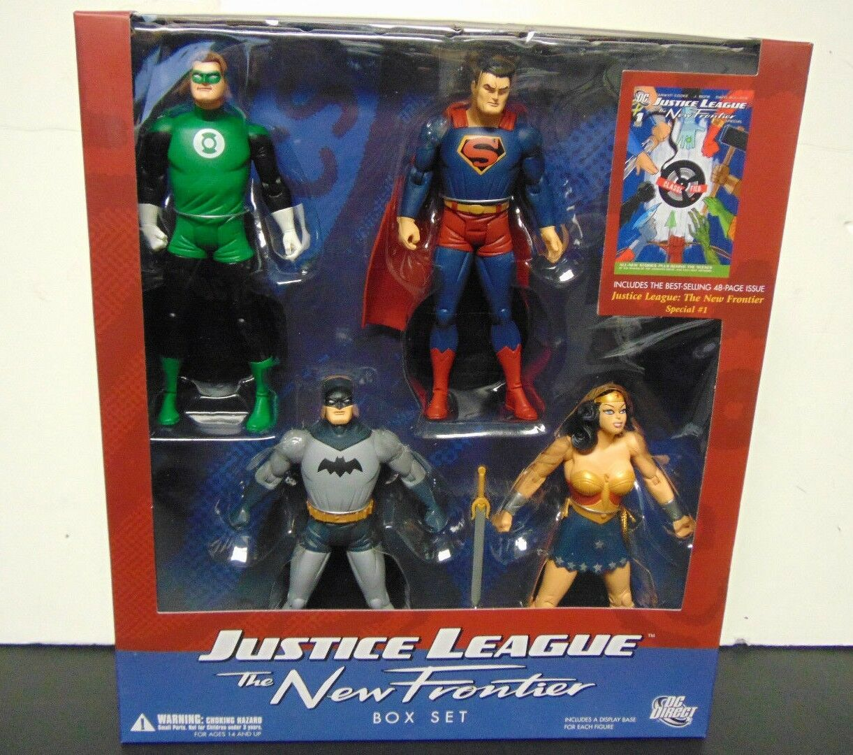 DC Direct Justice League The New Frontier Box Set Set Set - Batman Superman Wonder verde 01c114