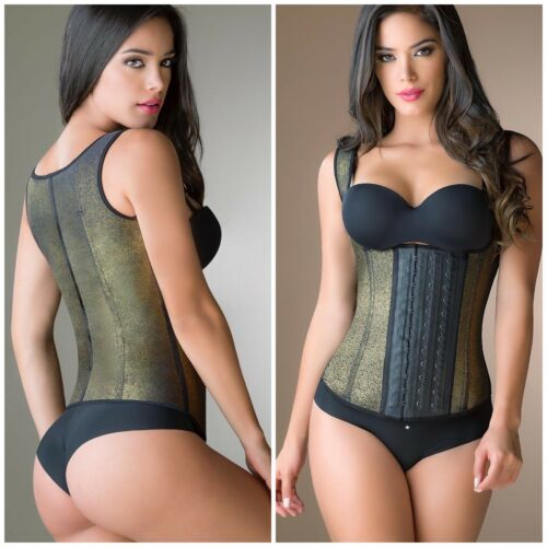 Vest Waist Trainer Cinchers Shaper GIRDLES 3 HOOK 100% Latex Colombia MADE S5XL