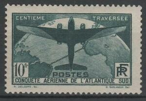 FRANCE-STAMP-TIMBRE-321-034-TRAVERSEE-ATLANTIQUE-SUD-10F-VERT-034-NEUF-xx-TTB-N475