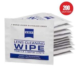 200 Count Zeiss Pre-Moistened Lens Screen Optical Camera Cleaning Cloth Wipes