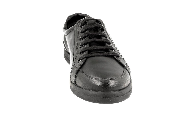 zapatos PRADA SAFFIANO SAFFIANO SAFFIANO LUXUEUX 3E5892 negro NOUVEAUX 39,5 40 UK 6.5 e236cb