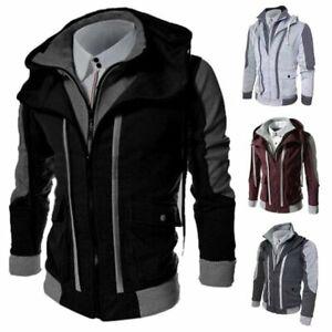 Jacket-Coat-Warm-Sweater-Hoodie-Outwear-Hooded-Men-039-s-Sweatshirt-Winter-Tops