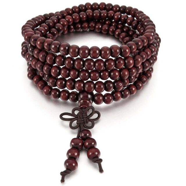 6mm Necklace Tibetan Red Sandal 216pcs Bead Prayer Buddhist Bracelet Man, W U4T0