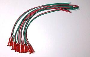 "6 BBT Brand 220 volt Red LED ""Push In"" Indicator Lights"