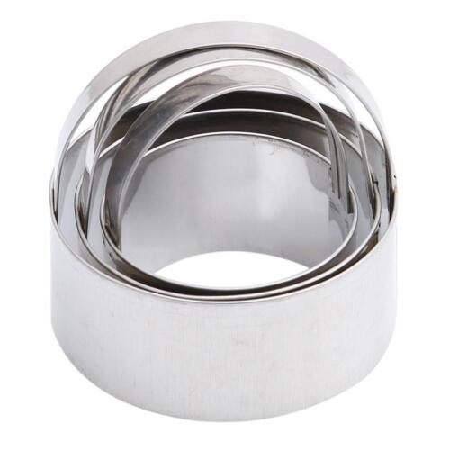 Stainless Steel Round Circle Pastry Cookie Cutter Fondant Cake Paste Mould N7